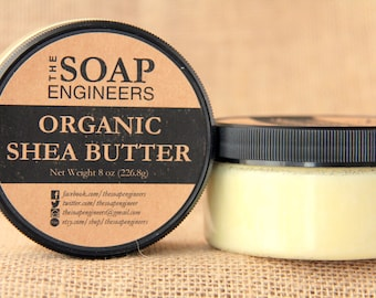 Organic Shea Butter (Unscented) - Perfect for sensitive skin or customized scented Shea butter as gifts