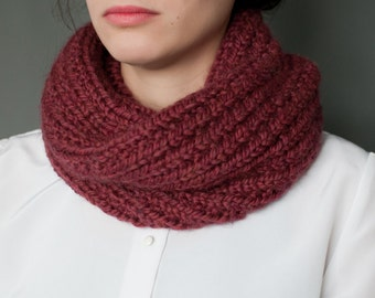 Berry Red Cowl