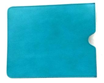 Handmade Italian Premium Leather iPad Sleeve in Light Blue