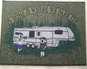 Home is Where you Park Door mat