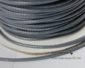 Sale 100 Yards/Roll 2mm Gray Wax Cords, Environmental Protection Wax Cords WS205