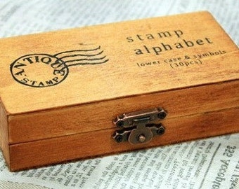 "Box of rubber stamp set ""Alphabet"""