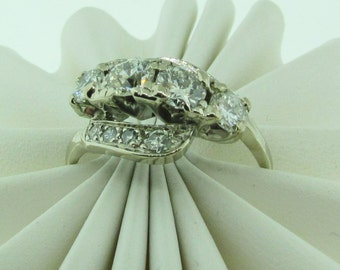 Antique white gold and diamond ring.