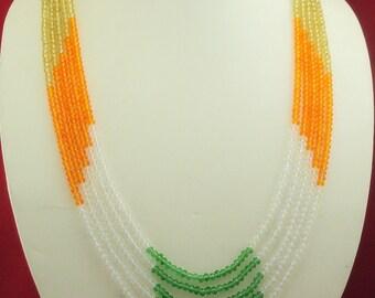 free shipping ne f-38  Indian ethnic party wear look  faceted white topaz + peridot+ multi-stone sarafa handmade stunning fashion necklace