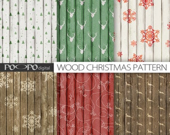 wood christmas digital paper natural red green white xmas pattern rustic scrapbook texture x-mas grungy shabby wood grain printable holiday
