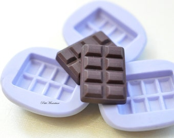 20mm flexible silicone mold Chocolate Chocolate 3d miniature dollhouse charm kawaii polymer clay jewelry resin soap plaster ST182