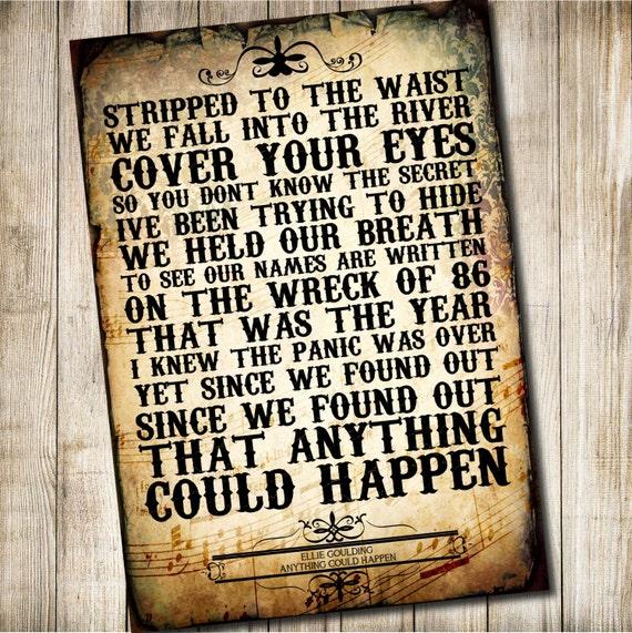 Ellie Goulding - Anything Could Happen Lyrics