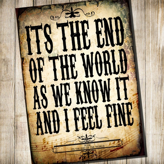rem its the end of world lyrics