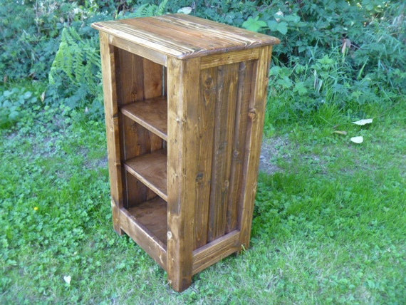 items similar to rustic pallet bookcase cabinet rustic. Black Bedroom Furniture Sets. Home Design Ideas