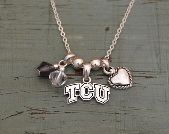 TCU Horned Frogs Memory Necklace