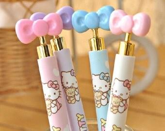 Lot Kawaii bow Tie 0.7mm Mechanical Click Pencil cute stationery pen