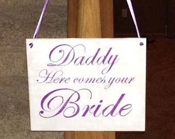 Flower girl and ring bearer wooden sign