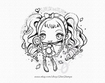 Candy Girl - DIGITAL STAMP Instant Download