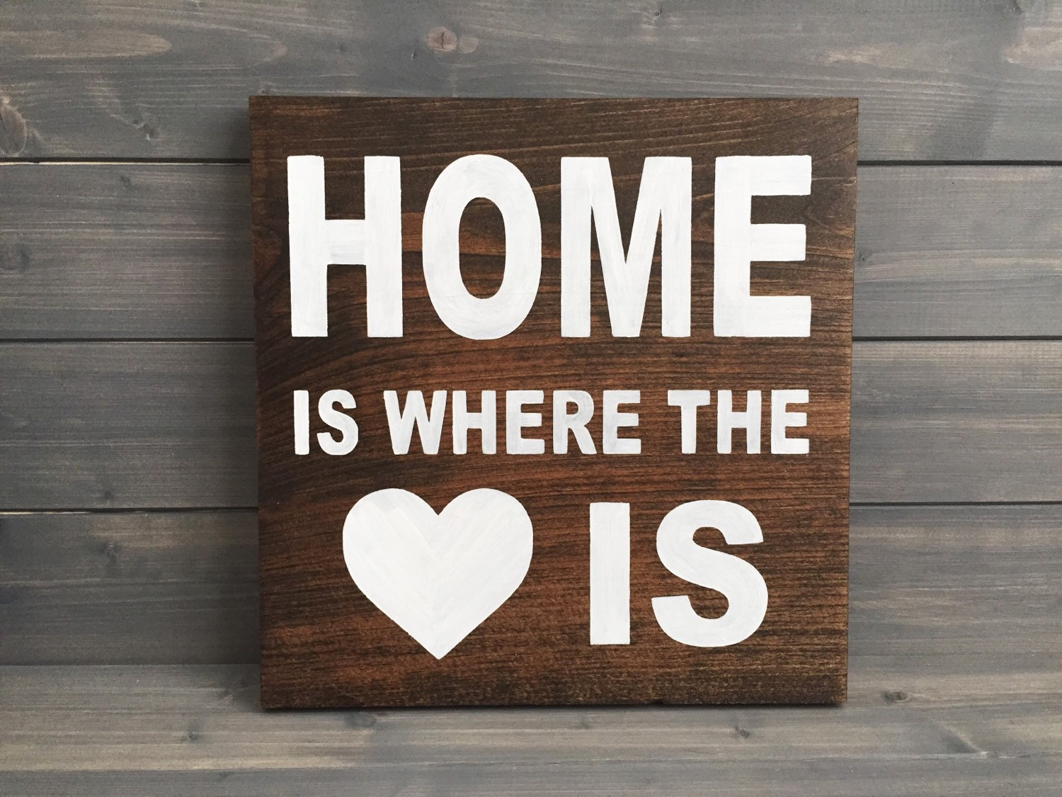home is where the heart is wood sign home signs farmhouse. Black Bedroom Furniture Sets. Home Design Ideas