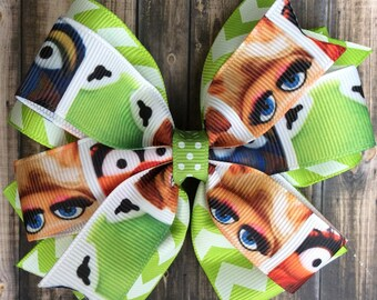 The Muppets Hair Bow / Kermit the Frog & Miss Piggy Bow / Muppets Bow / Jim Henson / Miss Piggy / Kermit the Frog / Animal