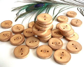 Wooden buttons set of 15, natural rustic wood buttons, branch button, craft supplies, craft accessories #9