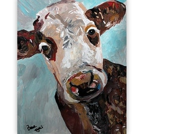 Cow Paintings - Kitchen Wall Art - Restaurant Decor