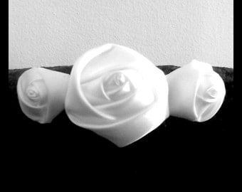 Triple Rosette French Clip MADE TO ORDER