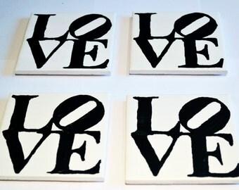 Ceramic Coasters - Love