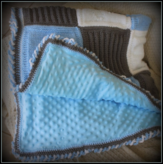Personalized Baby Blanket// Personalized knitted Baby