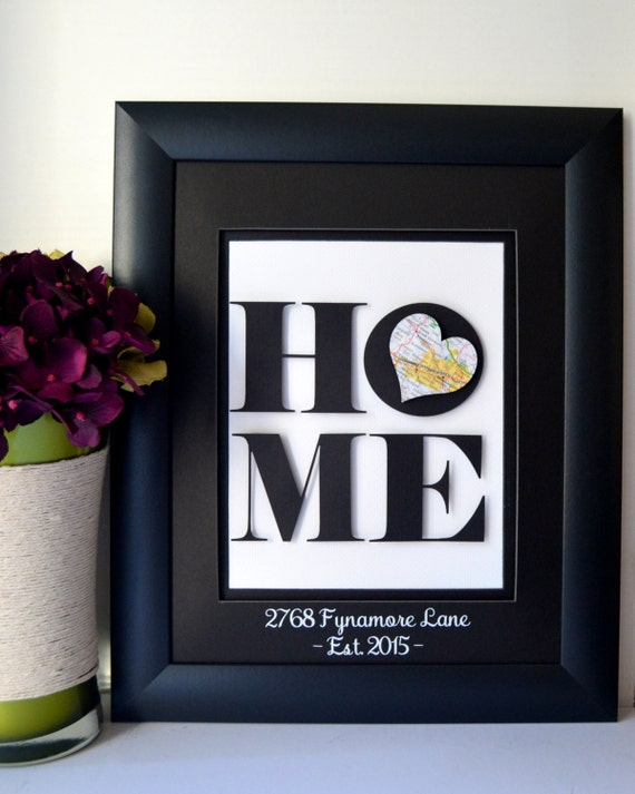 Unique Housewarming Gift New Home Address Art By