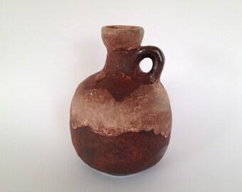 Ruscha Keramik 333 handled vase vintage Mid-Century Modern Pottery 1970s  West Germany.