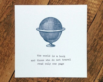 Bon Voyage Card; The World Is A Book (GC274)