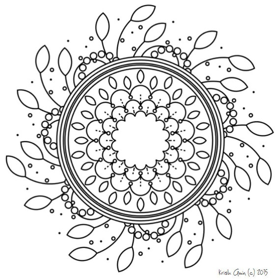 Intricate Mandala Coloring Pages Leaf Spring By KrishTheBrand