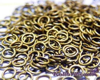 100 pc. Antique gold Jump Rings 5 mm - Open Jump Rings