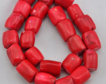 About 27 Pieces Red coral beads,One Full Strand,coral Beads,Gemstone Beads---10-13mm---16inches----S175