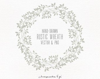 Floral border bouquet rustic hand drawn floral clipart floral wreath hand drawn floral wreath clipart wedding invitation clip art commercial use stopboris Images