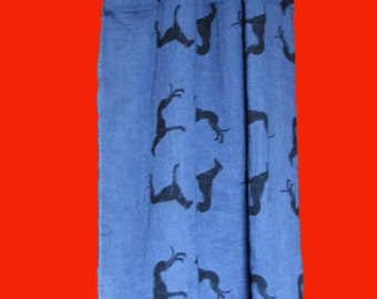 Frayed Greyhound Scarves in a variety of colours