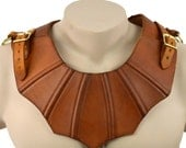 Gothic Leather Gorget - Fantasy Leather Armor - #DK5403