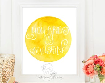 Kids wall art Nursery decor You are my sunshine print nursery wall decor sunshine print art printable home decor love nursery art Id189