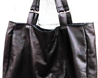 Black Leather Shoppingbag