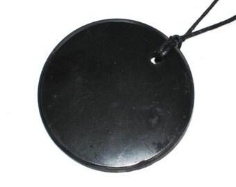 """Shungite pendant """"Large circle"""""""