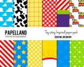 Toy story Inspired digital paper pack   for scrapbooking, Making Cards, Tags and Invitations / Instant Download