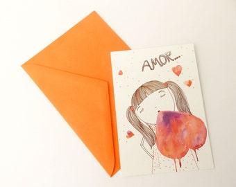 Postcard «Love»