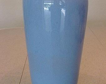 "General Ceramics Pottery M Vase Blue 10 1/2"""
