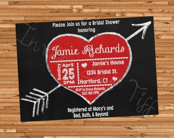 Heart and Arrow Bridal Shower Invite (Printable)