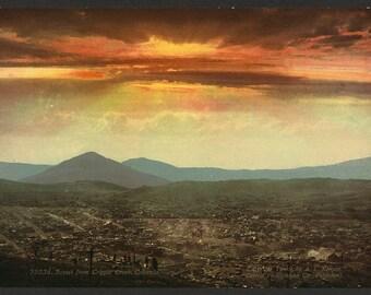 Sunset from Cripple Creek, Colorado 1899. Vintage photo postcard reprint 8x10-up. Sunrises & sunsets Mountains Colorado Cripple Creek