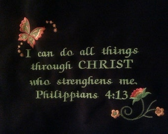 EMBROIDERY-TOTE PHILIPPIANS-4-13