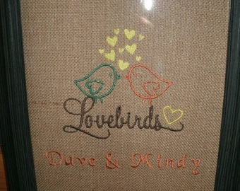 Personalized Lovebirds Custom Any Color Any Design of your Choice... PRINT ONLY