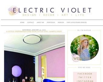 Electric Violet Blogger Template