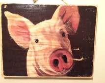 Popular items for pig home decor on etsy for Pig decorations for home