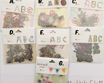 Moji Moji Alphabets Stickers (78 pcs per pack)