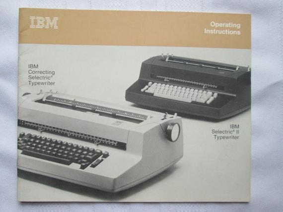 ibm selectric ii typewriter operation instructions manual