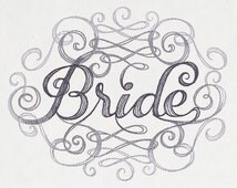 Bride Embroidered double pocket  apron