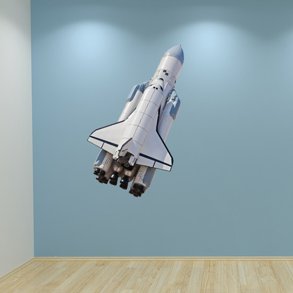 Wall Decal Space Shuttle Rocket Full Colour by ...