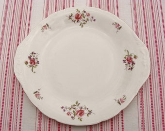 Pretty Royal Kent China Pink Roses Cake / Bread & Butter Plate